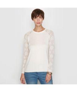 ANNE WEYBURN | Пуловер Из Двух Материалов