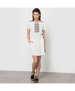 Color Block | Платье Из Струящейся Ткани С Вышивкой И Этническими Мотивами