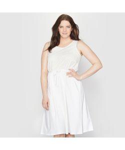 TAILLISSIME | Платье Из Двух Материалов