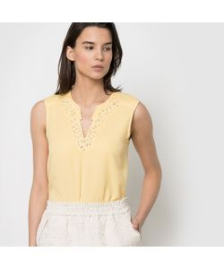 Color Block | Блузка Без Рукавов 100 Хлопка