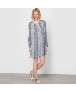 Vila | Платье Из Струящейся Ткани С Рисунком С Длинными Рукавами St