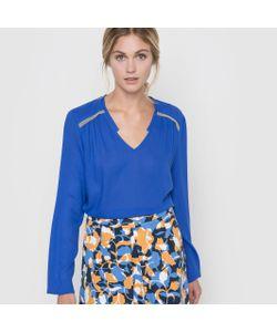 Color Block | Блузка С Длинными Рукавами И V-Образным Вырезом
