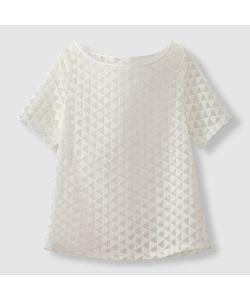 R édition | Блузка Из Тюля С Вышитым Геометрическим Узором