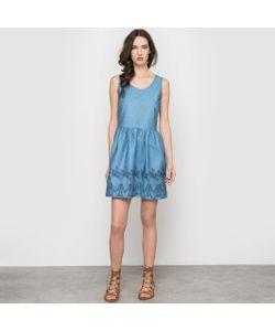 Pepaloves   Платье С Вышивкой Без Рукавов