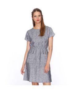 Pepaloves   Платье С Короткими Рукавами С Рисунком В Полоску И Карманами