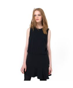 Color Block | Платье Без Рукавов С Расклешенным Низом И Декорированным Воротником