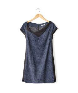 2TWO | Платье С Короткими Рукавами Прямое Асимметричный Вырез Hiliko