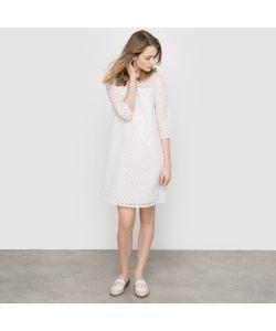MADEMOISELLE R | Платье Из Двух Материалов С Кружевом
