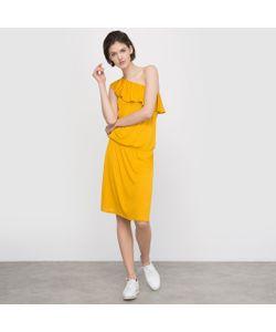 R édition | Платье Из Струящейся Ткани С Асимметричным Вырезом