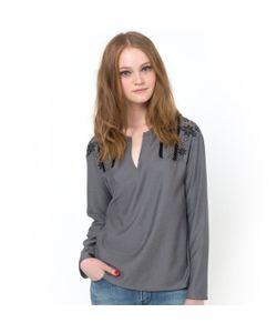 Color Block | Блузка С Вышивкой И Бахромой