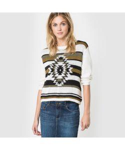 Vero Moda   Пуловер С Этническим Орнаментом И Круглым Вырезом Vmjaney