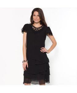 ANNE WEYBURN | Платье Из Жатого Крепа