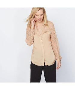 ANNE WEYBURN | Рубашка Из Сатина И Кружева