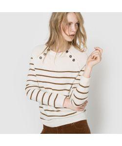 R essentiel | Пуловер В Полоску C Застежкой На Пуговицы