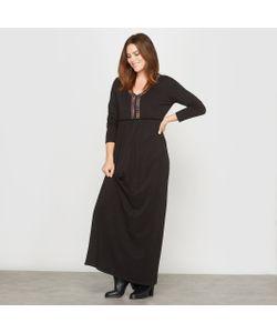 CASTALUNA | Платье Длинное Из Трикотажа Пластрон С Вышивкой