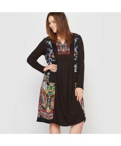 CASTALUNA | Платье Длинное Из Джерси С Вышивкой