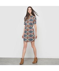 Vero Moda   Платье С Рисунком И Короткими Рукавами