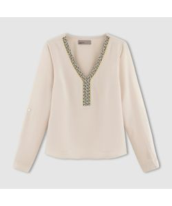 Vero Moda   Блузка С Длинными Рукавами V-Образный Вырез