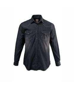 JP1880 | Рубашка Из Денима С Длинными Рукавами