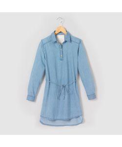 R pop   Платье-Рубашка Из Лёгкой Джинсовой Ткани На 10-16 Лет