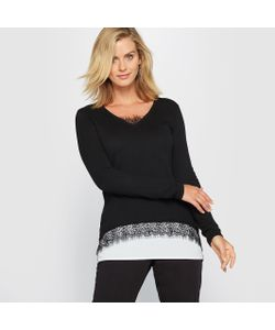 ANNE WEYBURN | Пуловер Из Кружева 10 Шерсти