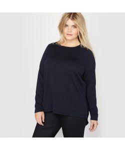 CASTALUNA | Пуловер Из Двух Материалов 100 Шерсти Мериноса