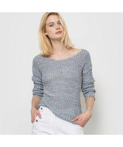 R studio | Пуловер С Длинными Рукавами И V-Образным Вырезом Из Ленточного Трикотажа
