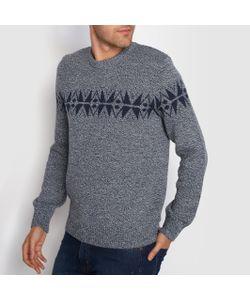 R édition | Пуловер С Круглым Вырезом И Жаккардовым Рисунком