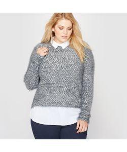 CASTALUNA | Пуловер-Рубашка Из Трикотажа Мулине С Волокнами С Металлическим Блеском