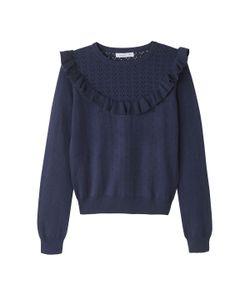 MADEMOISELLE R | Пуловер Ажурный С Воланами Из Вискозы