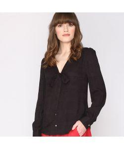 Pepaloves | Рубашка С Воротником-Лавальер И Эффектом Текстурированной Ткани