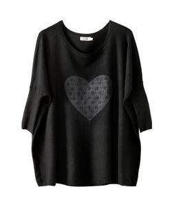 Molly Bracken | Пуловер С Рисунком Сердце Вырез-Лодочка