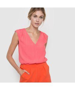 Color Block | Блузка Без Рукавов С Кружевной Лентой