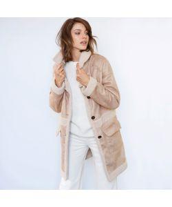 SOFT GREY | Пальто Из Искусственной Замши