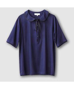 JOE RETRO | Блузка С Отложным Воротником И Короткими Рукавами