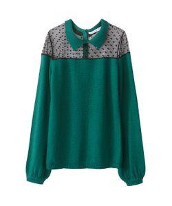 MADEMOISELLE R | Пуловер Со Вставкойрасшитой Гладью