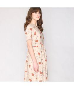 Pepaloves   Платье С Принтом Расширяющееся На Поясе