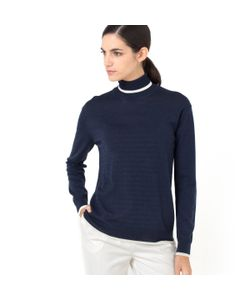 LAURA CLEMENT | Пуловер-Водолазка С Графичным Рисунком 100 Мериносовой Шерсти