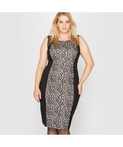 CASTALUNA | Платье Без Рукавов Из Двух Материалов