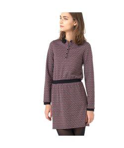 Мини-цена | Платье Из Жаккардового Трикотажа С Воротником-Поло