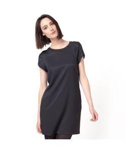 Color Block | Платье Короткое С Короткими Рукавами Бусинами И Пайетками