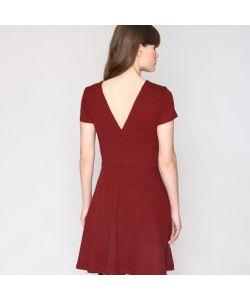 Pepaloves | Платье Расклешенное С Кружевом И V-Образным Вырезом Сзади