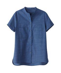 R essentiel | Рубашка С Короткими Рукавами Из Легкого Денима