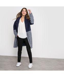 R édition | Пальто Из Комбинированного Материала С Высоким Воротником