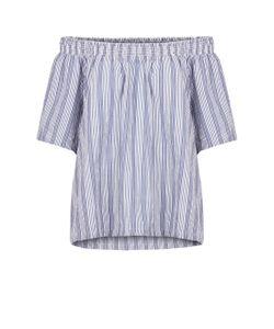 Numph | Блузка В Полоску С Открытыми Плечами Короткие Рукава