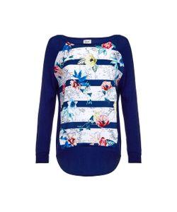 Yumi   Пуловер С Длинными Рукавами С Рисунком В Полоску И Цветочным Рисунком