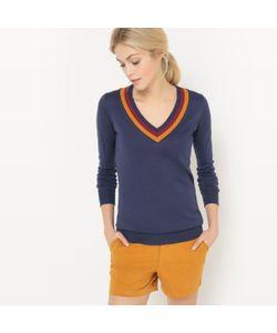 R essentiel | Пуловер С V-Образным Вырезом Контрастного Цвета
