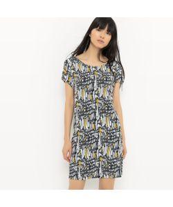 Suncoo   Платье Короткое С Короткими Рукавами И Рисунком