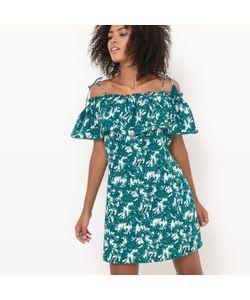Suncoo   Платье Короткое На Тонких Бретелях С Цветочным Рисунком