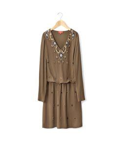 Rene Derhy | Платье С Длинными Рукавами Вышивкой V-Образным Вырезом